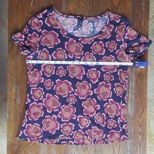 Ann Taylor flower floral tee t-shirt size M